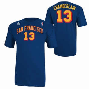 San Francisco Warriors adidas Originals Wilt Chamberlain Name & Number Throwback Tee - Royal - Click to enlarge