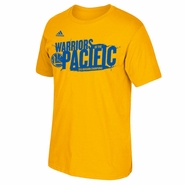Golden State Warriors adidas Warriors of the Pacific Division Champions Tee - Gold