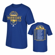 Golden State Warriors adidas Your Game in Lights Western Conference Finals Roster Tee