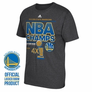 Golden State Warriors adidas NBA Finals Champion Locker Room Tee - Grey