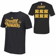 """Golden State Warriors adidas Climalite Stephen Curry #30 """"Strength In Numbers"""" Name & Number Performance Tee - Black"""