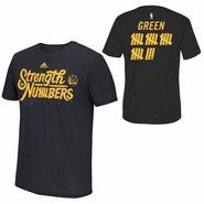 """Golden State Warriors adidas Climalite Draymond Green #23 """"Strength In Numbers"""" Name & Number Performance Tee - Black"""