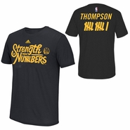 """Golden State Warriors adidas Climalite Klay Thompson #11 """"Strength In Numbers"""" Name & Number Performance Tee - Black"""