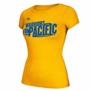 Golden State Warriors adidas Women's Warriors of the Pacific Division Champions Tee - Gold