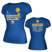 Golden State Warriors adidas Women's Trophy Overlap Roster Tee - Royal