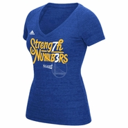 Golden State Warriors adidas Women's Strength In Numbers 73 Wins V-neck Tee - Royal