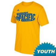 Golden State Warriors adidas Youth Warriors of the Pacific Division Champions Tee - Gold