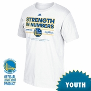 Golden State Warriors adidas Youth Western Conference Champions Locker Room Tee