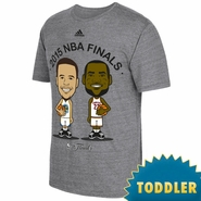 Golden State Warriors adidas Toddler The Finals Curry vs. James Geek'd Up Tee - Grey