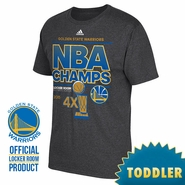 Golden State Warriors adidas Toddler NBA Finals Champion Locker Room Tee - Grey