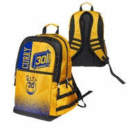 Golden State Warriors Forever Collectibles Stephen Curry #30 Gradient Elite Hardwood Classics �The City� Backpack - Gold