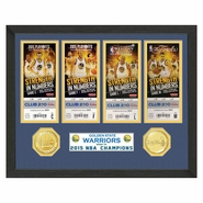 Golden State Warriors Highland Mint 2015 NBA Finals Champions Replica Tickets Collection