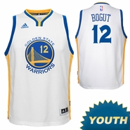 Andrew Bogut Youth Jersey: adidas Home White Swingman #12 Golden State Warriors NBA Jersey