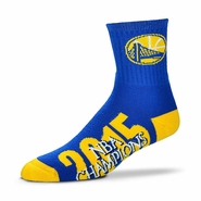 Golden State Warriors For Bare Feet Team Color Champs Ankle Socks