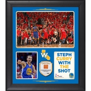 Golden State Warriors Fanatics Authentic Framed 15x17 Stephen Curry Shot vs. Pelicans Collage with Team-Used Basketball