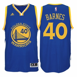Harrison Barnes Jersey: adidas  Royal Blue Swingman #40 Golden State Warriors NBA Jersey - Click to enlarge