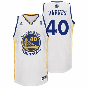 Harrison Barnes Jersey: adidas Revolution 30 White Swingman #40 Golden State Warriors NBA Jersey - Click to enlarge