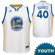 Harrison Barnes Youth Jersey: adidas Home White Swingman #40 Golden State Warriors NBA Jersey