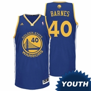 Harrison Barnes Youth Jersey: adidas Revolution 30 Royal Blue Swingman #40 Golden State Warriors NBA Jersey