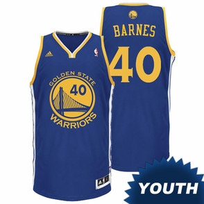 Harrison Barnes Youth Jersey: adidas Revolution 30 Royal Blue Swingman #40 Golden State Warriors NBA Jersey - Click to enlarge