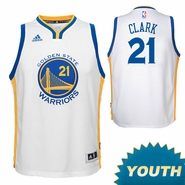 Ian Clark Youth Jersey: adidas Home Swingman #21 Golden State Warriors NBA Jersey - White
