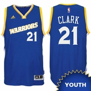 Ian Clark Youth Jersey: adidas Stretch Crossover #21 Golden State Warriors Royal NBA Swingman Jersey