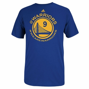 Golden State Warriors adidas Andre Iguodala Twitter Name & Number Tee- Royal - Click to enlarge