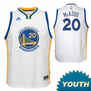 James Michael McAdoo Youth Jersey: adidas Home Swingman #20 Golden State Warriors NBA Jersey - White