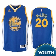 James Michael McAdoo Youth Jersey: adidas Road Swingman #20 Golden State Warriors NBA Jersey - Royal
