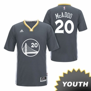 James Michael McAdoo Youth Jersey: adidas Slate Swingman #20 Golden State Warriors NBA Jersey