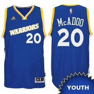 James Michael McAdoo Youth Jersey: adidas Stretch Crossover #20 Golden State Warriors Royal NBA Swingman Jersey