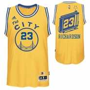Jason Richardson Jersey: adidas Hardwood Classics 'The City' #23 Swingman Jersey - Gold