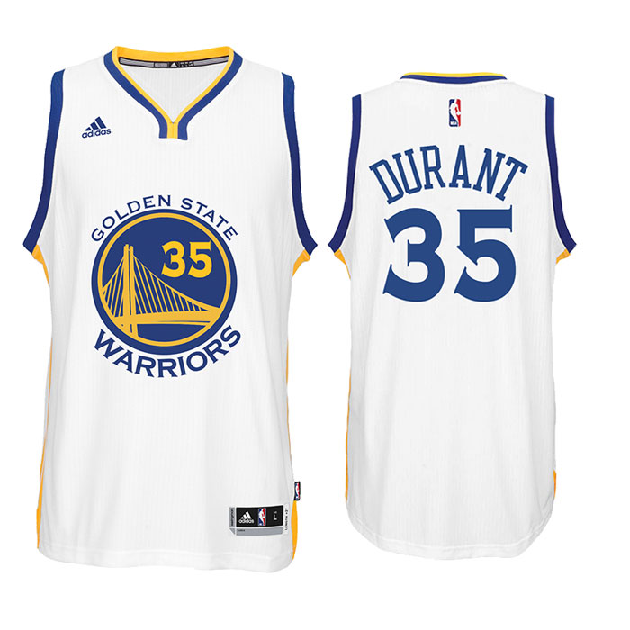 Kevin Durant Jersey: adidas White Swingman #35 Golden State Warriors Home Jersey