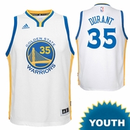Kevin Durant Youth Jersey: adidas Home Swingman #35 Golden State Warriors NBA Jersey - White