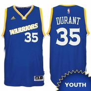 Kevin Durant Youth Jersey: adidas Stretch Crossover #35 Golden State Warriors Royal NBA Swingman Jersey