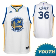 Kevon Looney Youth Jersey: adidas Home Swingman #36 Golden State Warriors NBA Jersey - White