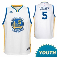 Kevon Looney Youth Jersey: adidas Home Swingman #5 Golden State Warriors NBA Jersey - White