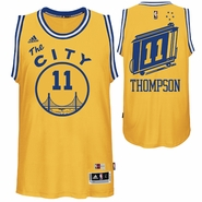 Klay Thompson Jersey: adidas Hardwood Classics 'The City' #11 Swingman Jersey - Gold