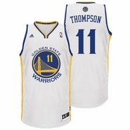 Klay Thompson Jersey: adidas Revolution 30 White Swingman #11 Golden State Warriors NBA Jersey