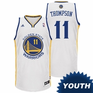 Klay Thompson Youth Jersey: adidas Revolution 30 White Swingman #11 Golden State Warriors NBA Jersey