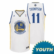 Klay Thompson Youth Jersey: adidas  White Swingman #11 Golden State Warriors NBA Jersey