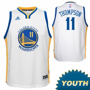 Klay Thompson Youth Jersey: adidas White Swingman #11 Golden State Warriors NBA Jersey - Click to enlarge