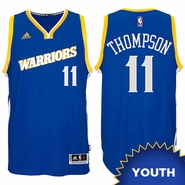 Klay Thompson Youth Jersey: adidas Stretch Crossover #11 Golden State Warriors Royal NBA Swingman Jersey