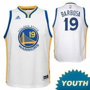 Leandro Barbosa Youth Jersey: adidas Home Swingman #19 Golden State Warriors NBA Jersey - White