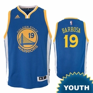 Leandro Barbosa Youth Jersey: adidas Road Swingman #19 Golden State Warriors NBA Jersey - Royal