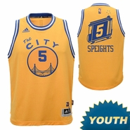 Marreese Speights Youth Jersey: adidas Hardwood Classics 'The City' #5 Swingman Jersey - Gold
