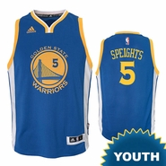Marreese Speights Youth Jersey: adidas Road Swingman #5 Golden State Warriors NBA Jersey - Royal