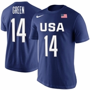 Men's USA Basketball Draymond Green Nike Royal Rio Replica Name & Number T-Shirt