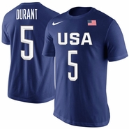 Men's USA Basketball Kevin Durant Nike Royal Rio Replica Name & Number T-Shirt