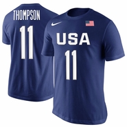 Men's USA Basketball Klay Thompson Nike Royal Rio Replica Name & Number T-Shirt